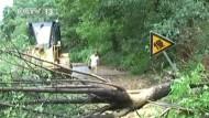 Rekordstarker Regen sorgt in China für Überschwemmungen