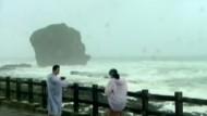 Taifun-Tourismus in Taiwan