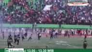 Toter bei Ausschreitungen im Fußballstadion