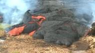 Lava zerstört Wohnhaus