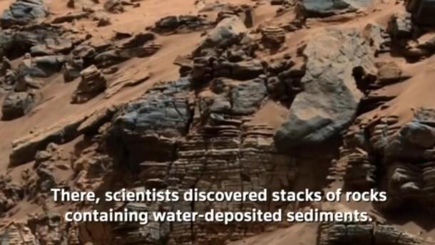 Auf dem Mars könnte es Leben gegeben haben