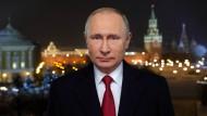 Um Botschaften selten verlegen: Putin hält am 31. Dezember die traditionelle Neujahrsansprache.