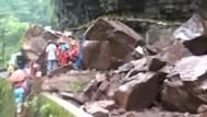 13-Jährige steckt nach Erdrutsch unter Felsbrocken fest