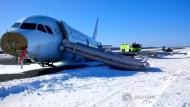 Air Canada-Airbus rutscht von Landebahn