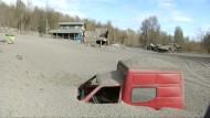 Nach dem Ausbruch: 200 Tonnen Vulkanasche