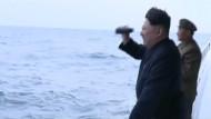 Raketentest im Beisein von Kim Jong-un