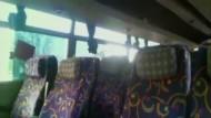 Starkstromleitung zerstört Bus