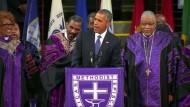 Obama singt auf Trauerfeier in Charleston