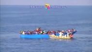 Schiffbruch auf dem Mittelmeer