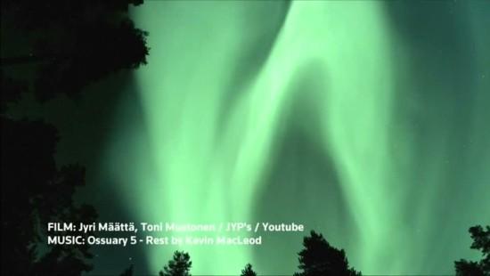 Polarlichter über Finnland