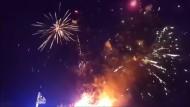 Überraschendes Feuerwerk