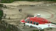 Dramatische Rettungsaktion mit Hubschrauber