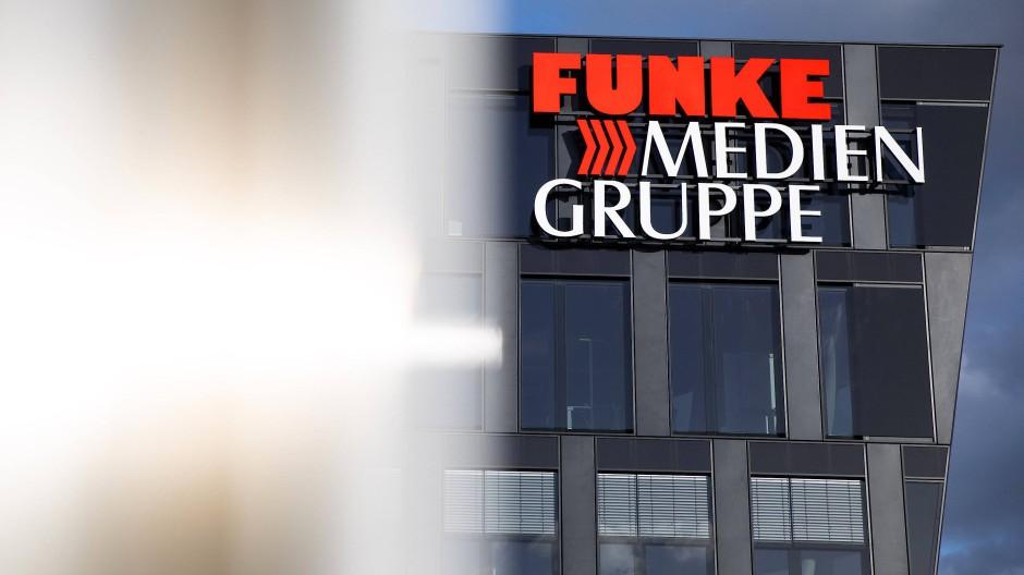 Die Firmenzentrale der Funke Medien Gruppe in Essen