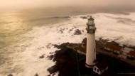 Kaliforniens Küste aus der Luft