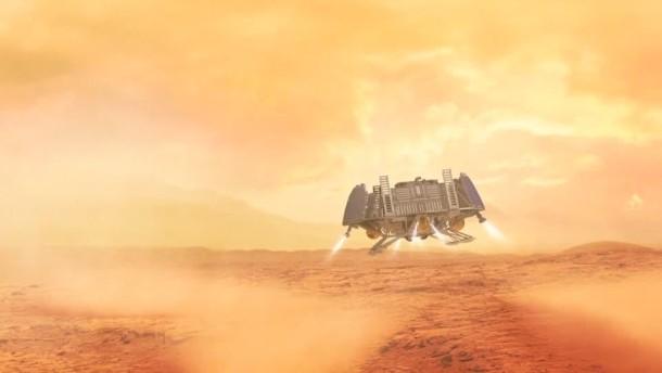 Rakete in Richtung Roter Planet gestartet