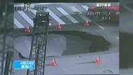 Gefährliche Falle auf chinesischer Kreuzung