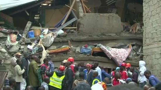 Tote bei Hauseinsturz in Nairobi