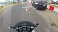 Zweiradfahrer-Navi für den Helm