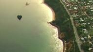 Dramatische Rettungsaktion eines Heißluftballons auf See