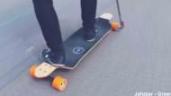 Elektro-Skateboard mit Handbohrer-Antrieb