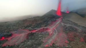 Vulkanausbruch auf La Réunion