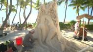 Künstler schaffen einzigartige Sandburgen