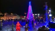 Futuristischer Weihnachtsbaum in Estland