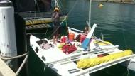 Vater und Tochter verbringen einen Monat auf See