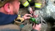 Rettung aus brennendem Haus: Hund wird wiederbelebt