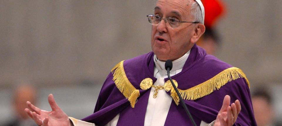 papst franziskus am freitag beim bugottesdienst im petersdom - Papst Franziskus Lebenslauf