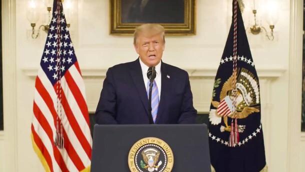 Trumps Empörung kommt vom Teleprompter