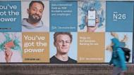 Mit Plakaten wie hier in Berlin will N26 neue Kunden gewinnen.