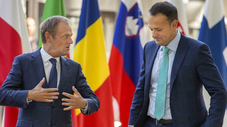 EU-Ratspräsident Donald Tusk und der irische Premierminister Leo Varadkar in Brüssel