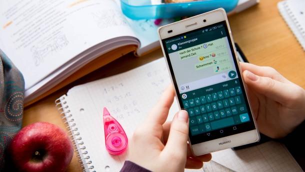 Streit um Whatsapp in der Schule