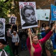 Die Philosophin wird verteufelt: Protest gegen einen Auftritt von Judith Butler in São Paulo am 7. November 2017.