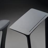 Ein Sitz-Tisch-Einteiler: Das namenlose Möbelstück vom badischen Büromöbel-Herstellers Sedus Stoll und der Offenbacher Designerschmiede Aroma:id