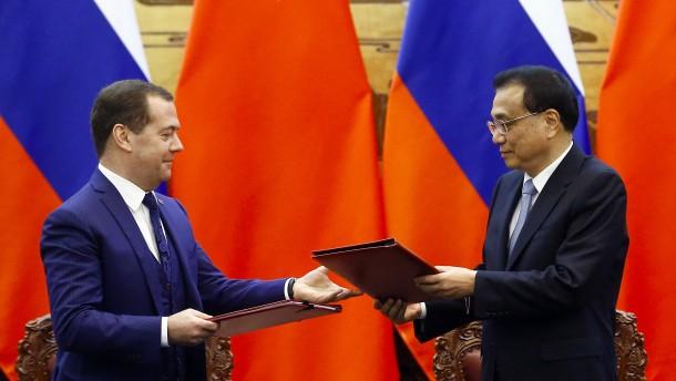 China und Russland peilen Handelsvolumen von 200 Milliarden Dollar an