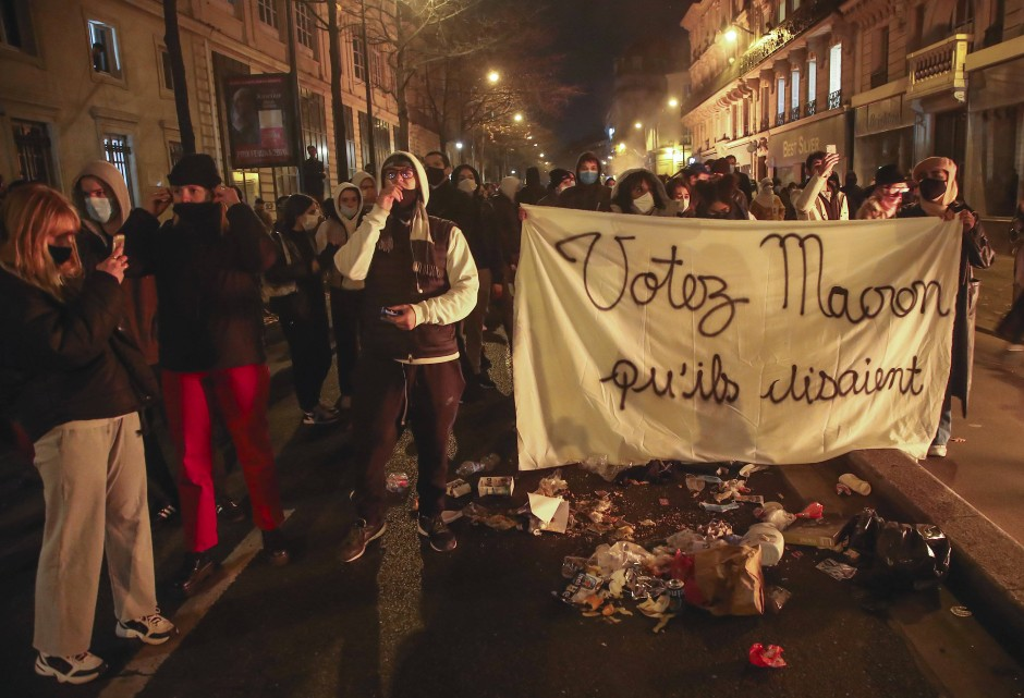 Protest gegen Polizeigewalt in Paris am 24. November
