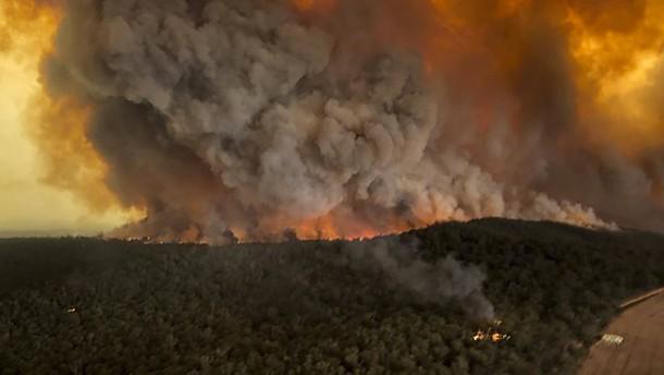 Waldbrände, Stürme, Überflutungen