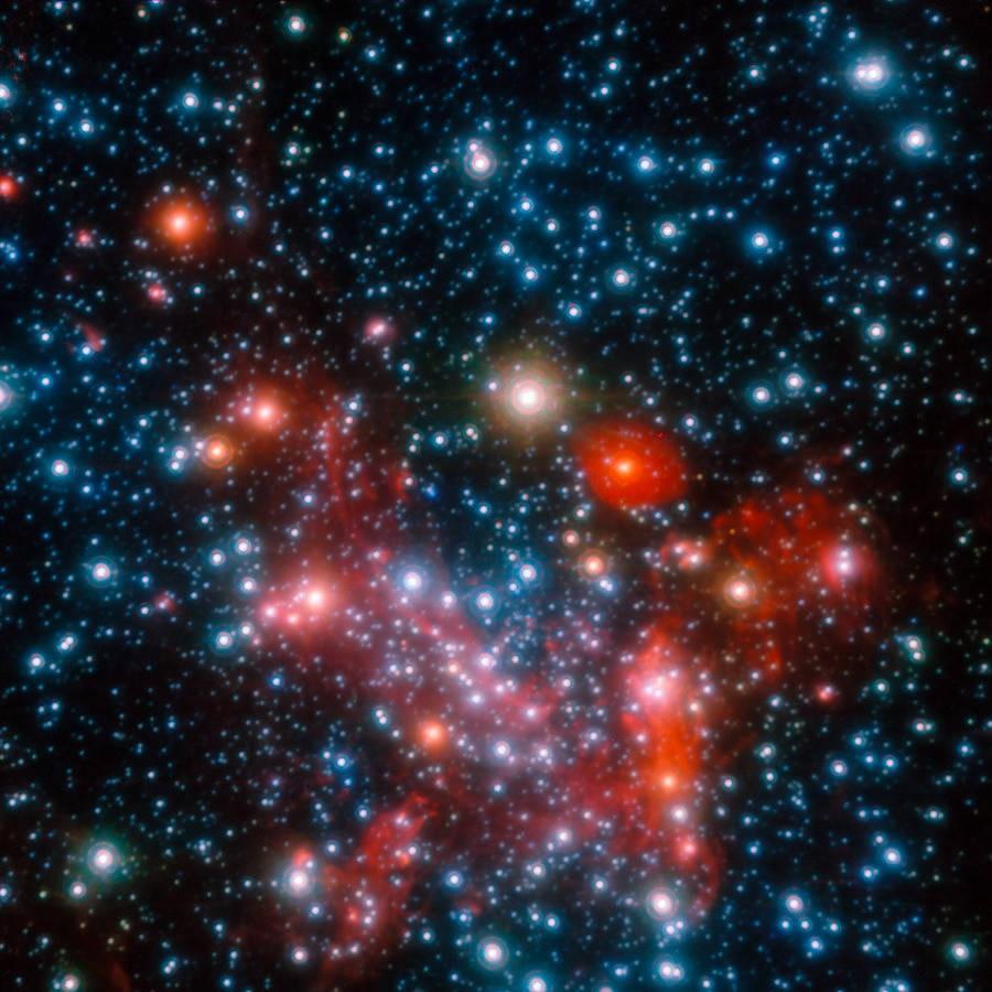 Das Zentrum unserer Milchstraße, beobachtet mit dem NACO Instrument am Very Large Telescope der Europäischen Südsternwarte