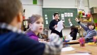 Viele Kinder, wenige Lehrer: Eine Grundschulklasse in Hannover