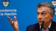 Das Schicksal Argentiniens liegt nicht mehr nur allein in seinen Händen: Präsident Mauricio Macri