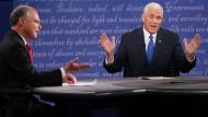 Die Kandidaten für das zweithöchste Amt der Vereinigten Staaten: Tim Kaine und Mike Pence.