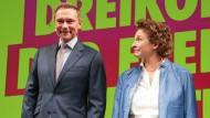 Christian Lindner und Nicola Beer auf dem Dreikönigstreffen der FDP