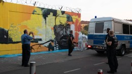 Gemälde von erschossenem Clanmitglied in Berlin übermalt