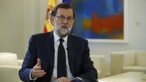 Rajoy will sich zu Katalonien äußern