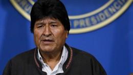 Boliviens Präsident Evo Morales tritt zurück