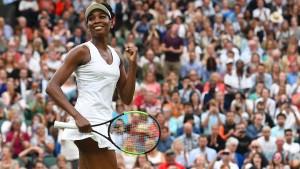 Venus Williams gewinnt 100. Wimbledon-Match