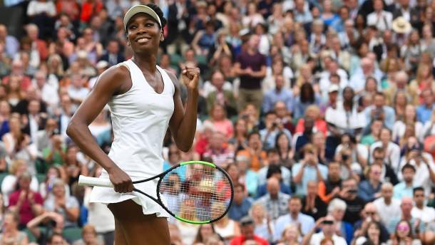 Venus Williams gewinnt 100. Wimbledon-Match