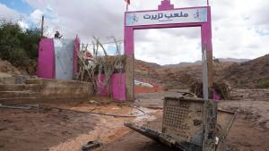Plötzliche Überschwemmungen bei Fußballspiel in Marokko